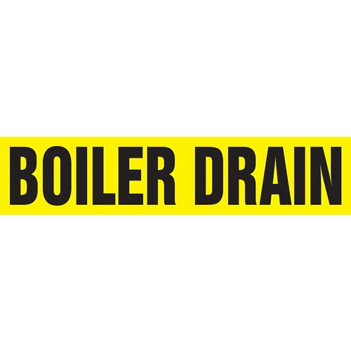 Boiler Drain Pipe Marker - ASME/ANSI (013699)
