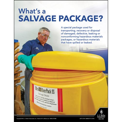 What's a Salvage Package - Hazmat Transportation Poster (013908)