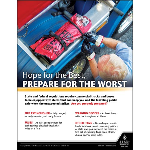 Hope For The Best, Prepare For The Worst - Motor Carrier Safety Poster (013910)