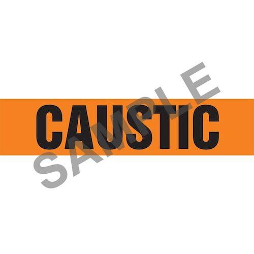 Caustic Pipe Marker - ASME/ANSI (013704)