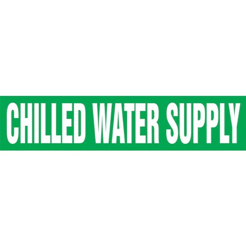 Chilled Water Supply Pipe Marker - ASME/ANSI (013710)