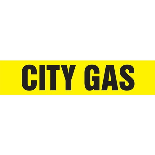 City Gas Pipe Marker - ASME/ANSI (013713)