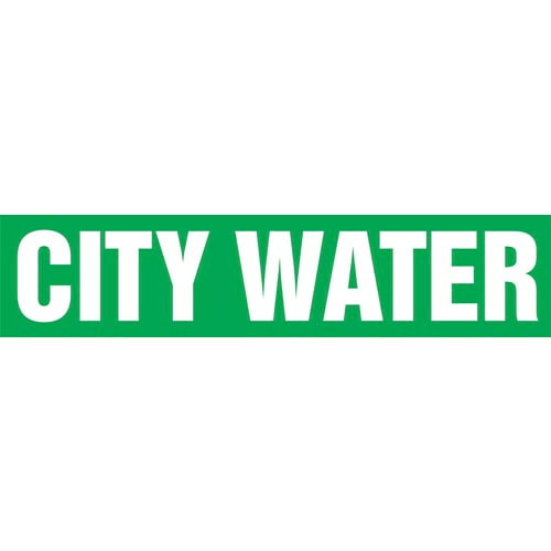 City Water Pipe Marker - ASME/ANSI (013714)