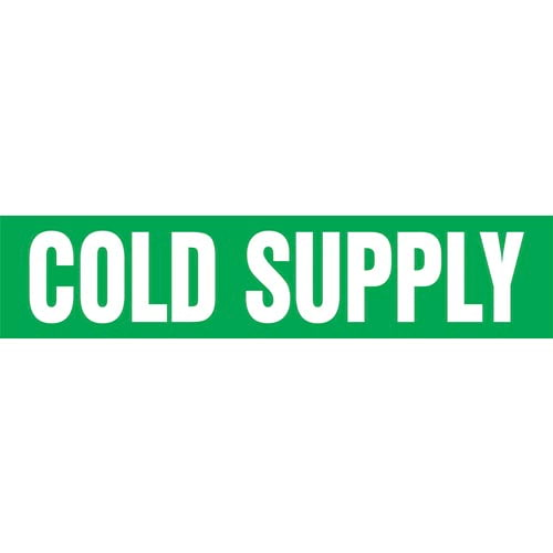 Cold Supply Pipe Marker - ASME/ANSI (013715)