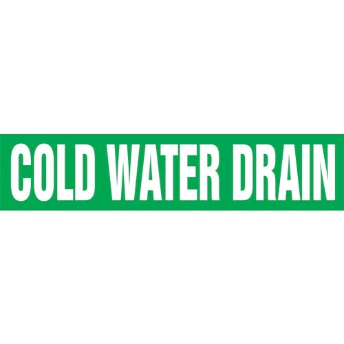 Cold Water Drain Pipe Marker - ASME/ANSI (013717)
