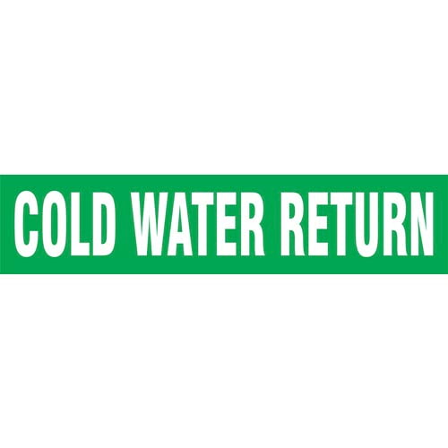 Cold Water Return Pipe Marker - ASME/ANSI (013718)