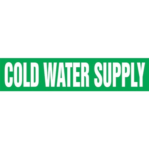 Cold Water Supply Pipe Marker - ASME/ANSI (013719)