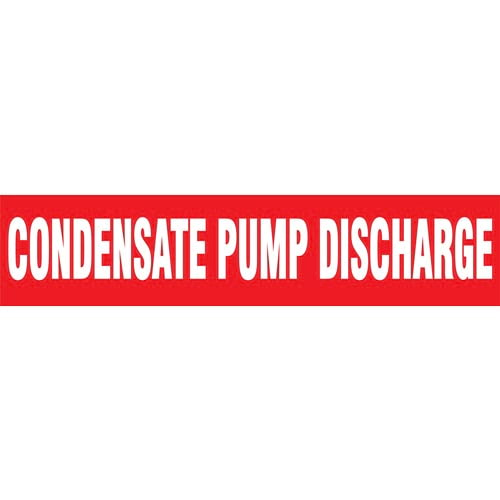 Condensate Pump Discharge Pipe Marker - ASME/ANSI (013723)