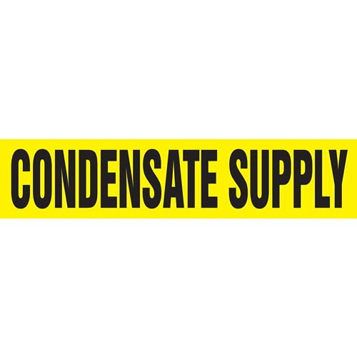 Condensate Supply Pipe Marker - ASME/ANSI (013725)