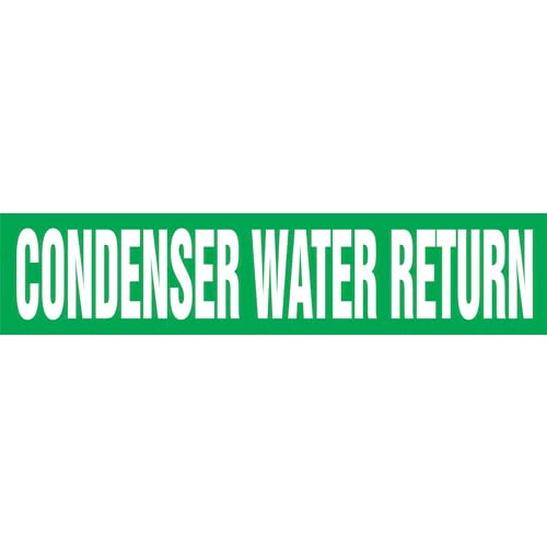 Condenser Water Return Pipe Marker - ASME/ANSI (013727)