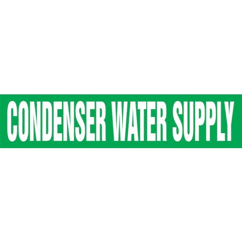 Condenser Water Supply Pipe Marker - ASME/ANSI (013728)