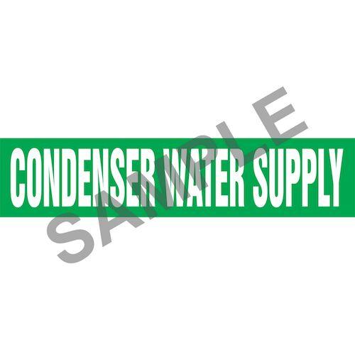 Condenser Water Supply Pipe Marker - ASME/ANSI (013728)