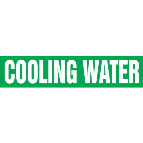 Cooling Water Pipe Marker - ASME/ANSI (013729)