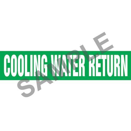 Cooling Water Return Pipe Marker - ASME/ANSI (013730)