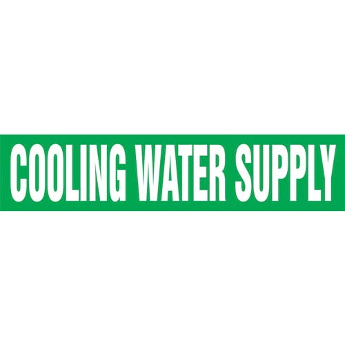 Cooling Water Supply Pipe Marker - ASME/ANSI (013731)