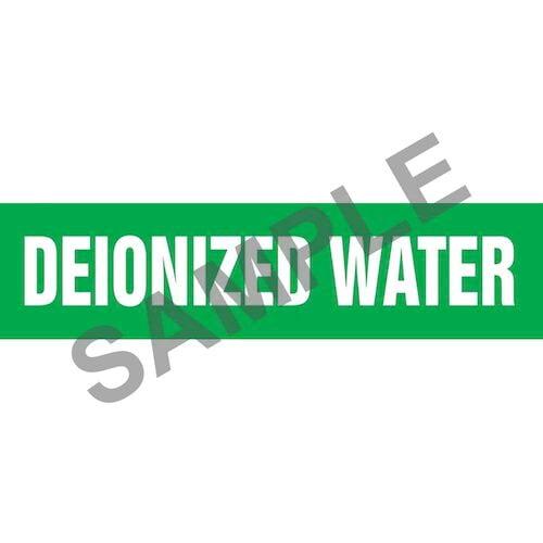 Deionized Water Pipe Marker - ASME/ANSI (013732)