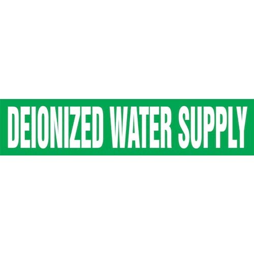 Deionized Water Supply Pipe Marker - ASME/ANSI (013733)