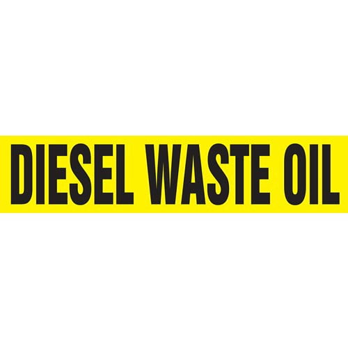 Diesel Waste Oil Pipe Marker - ASME/ANSI (013736)