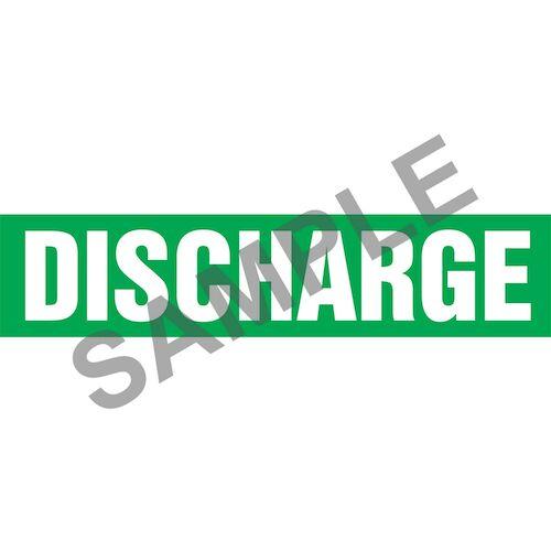 Discharge Pipe Marker - ASME/ANSI (013737)