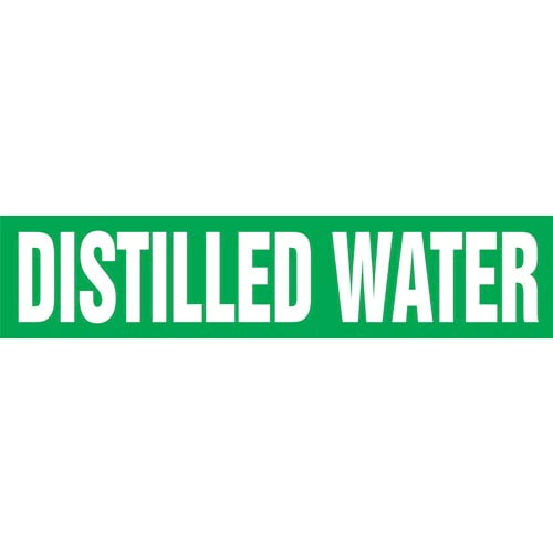 Distilled Water Pipe Marker - ASME/ANSI (013738)
