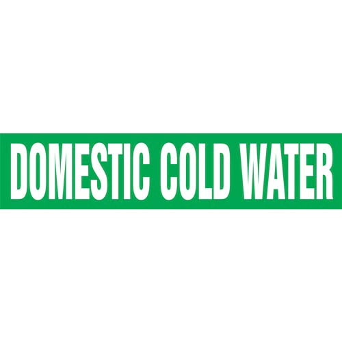 Domestic Cold Water Pipe Marker - ASME/ANSI (013740)