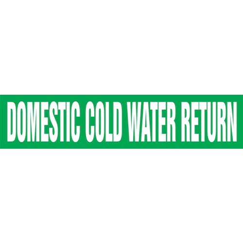Domestic Cold Water Return Pipe Marker - ASME/ANSI (013741)