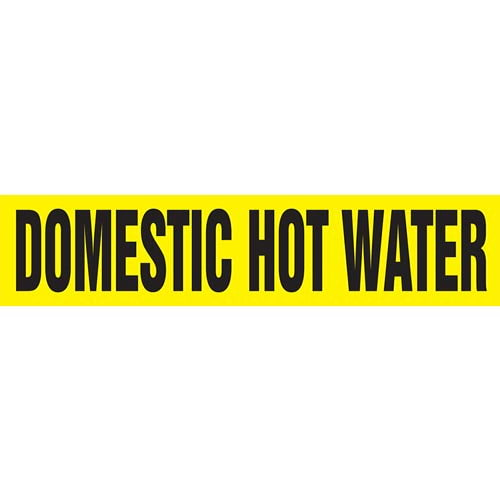 Domestic Hot Water Pipe Marker - ASME/ANSI (013743)