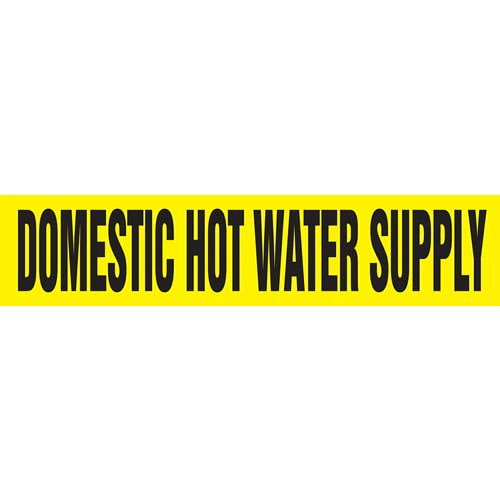 Domestic Hot Water Supply Pipe Marker - ASME/ANSI (013746)