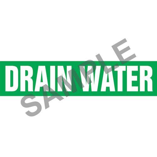 Drain Water Pipe Marker - ASME/ANSI (013748)