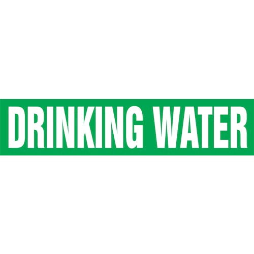 Drinking Water Pipe Marker - ASME/ANSI (013749)