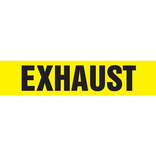 Exhaust Pipe Marker - ASME/ANSI (013752)