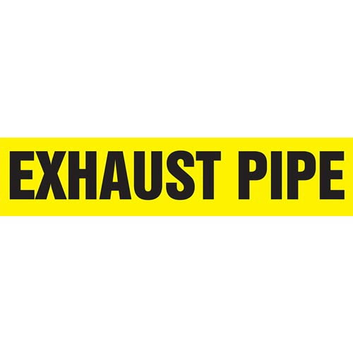 Exhaust Pipe - Pipe Marker - ASME/ANSI (013753)
