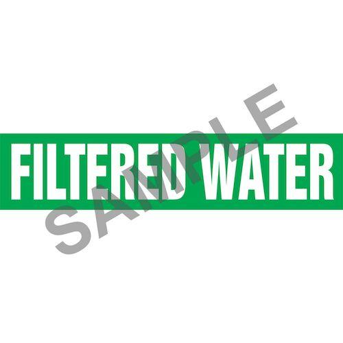 Filtered Water Pipe Marker- ASME/ANSI (013756)