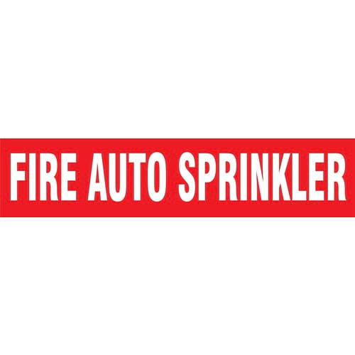 Fire Auto Sprinklers Pipe Marker - ASME/ANSI (013758)