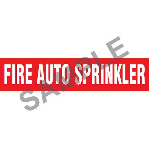 Fire Auto Sprinklers Pipe Marker - ASME/ANSI (013758)