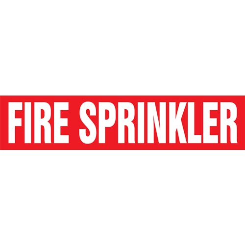 Fire Sprinkler Pipe Marker - ASME/ANSI (013759)
