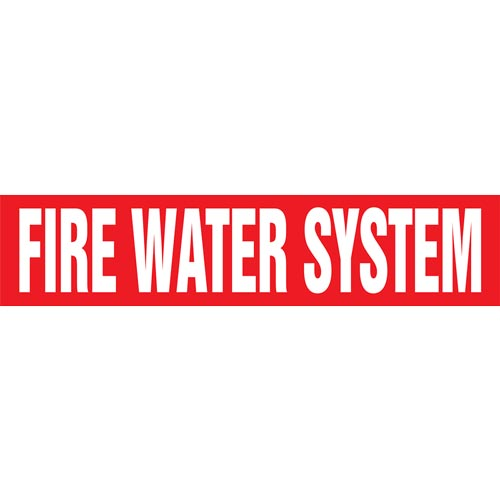 Fire Water System Pipe Marker - ASME/ANSI (013760)