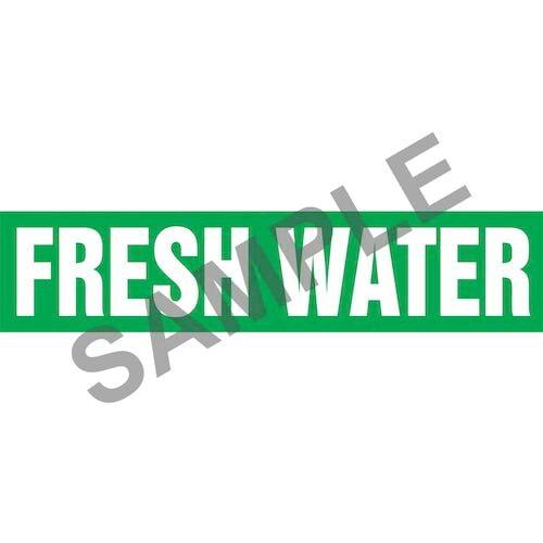 Fresh Water Pipe Marker - ASME/ANSI (013762)