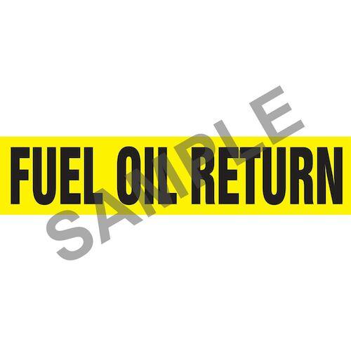 Fuel Oil Return Pipe Marker - ASME/ANSI (013765)