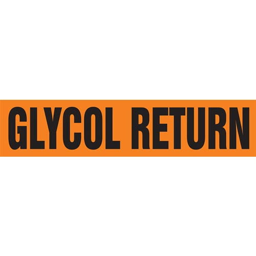 Glycol Return Pipe Marker - ASME/ANSI (013771)
