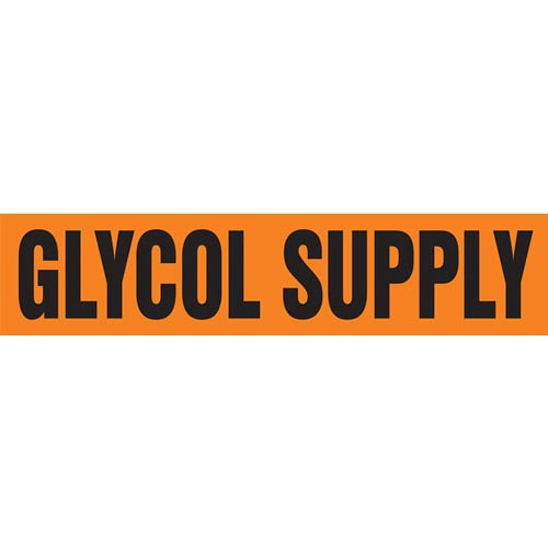 Glycol Supply Pipe Marker - ASME/ANSI (013772)
