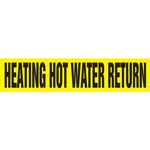 Heating Hot Water Return Pipe Marker - ASME/ANSI (013774)