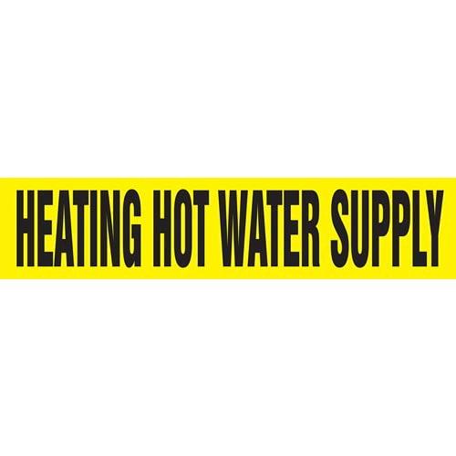 Heating Hot Water Supply Pipe Marker - ASME/ANSI (013775)
