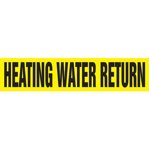Heating Water Return Pipe Marker - ASME/ANSI (013778)