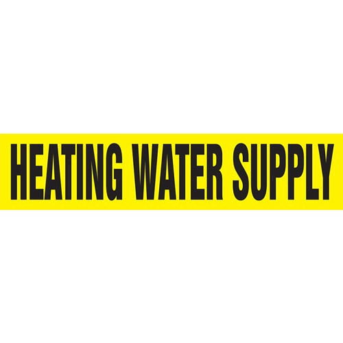 Heating Water Supply Pipe Marker - ASME/ANSI (013779)