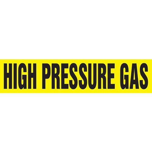 High Pressure Gas Pipe Marker - ASME/ANSI (013782)