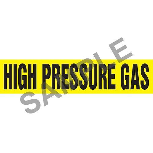 High Pressure Gas Pipe Marker - ASME/ANSI (013782)