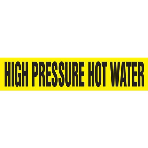 High Pressure Hot Water Pipe Marker - ASME/ANSI (013783)