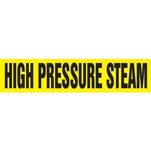 High Pressure Steam Pipe Marker - ASME/ANSI (013785)