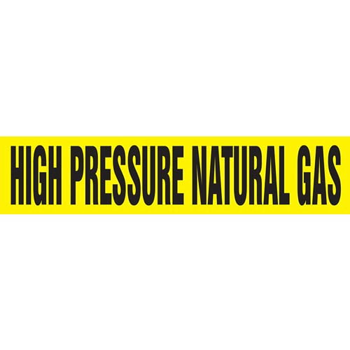 High Pressure Natural Gas Pipe Marker - ASME/ANSI (013787)